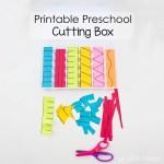 Printable Preschool Cutting Busy Box