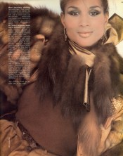 Beverly Johnson in a magazine spread from the 80s