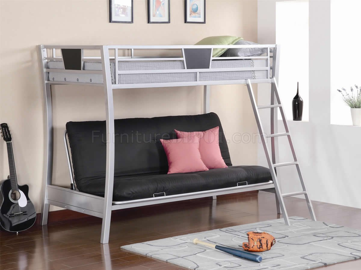 Extraordinary Trundle Silver Finish Metal Twin Over Futon Bunk Bed Twin Over Futon Bunk Bed Ikea Twin Over Futon Bunk Bed houzz-02 Twin Over Futon Bunk Bed