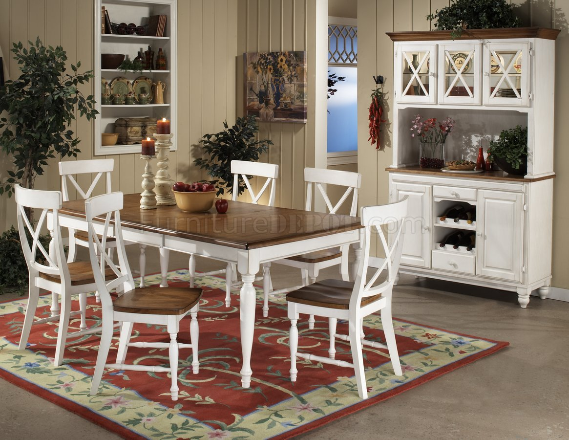warm oak white twotone finish modern dining table woptions p two tone kitchen table