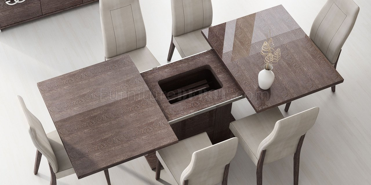 Impressive Prestige Table Gloss Walnut By Esf Room Chairs Uk Room Chair Fabrics houzz 01 Modern Dining Room Chairs