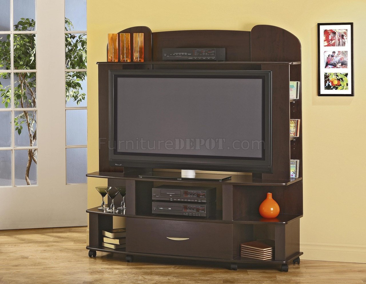 Engrossing Led Lights Entertainment Center Pinterest Cappuccino Finish Entertainment Center Base Entertainment Center houzz 01 Modern Entertainment Center