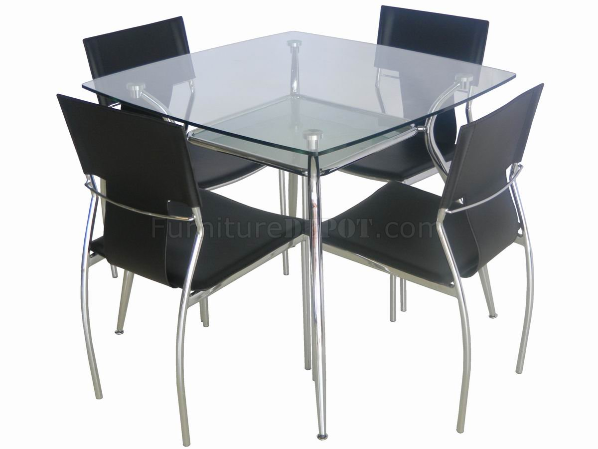 glass top metal legs modern square dining table wshelf p square kitchen table