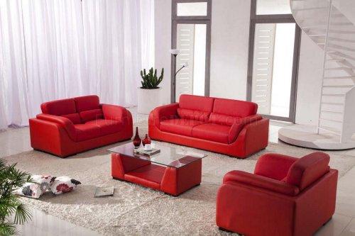 Medium Of Red Living Room