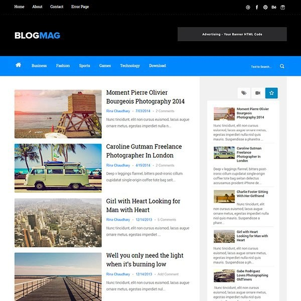 Blogmag Clean & Responsive Blogger Template