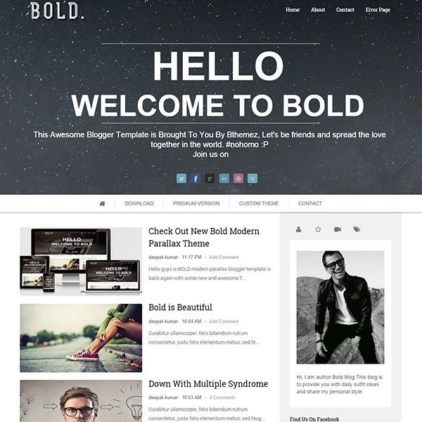 65+ Best Free Blogger Templates