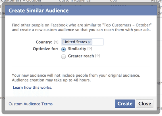 Facebook Lookalike audiences