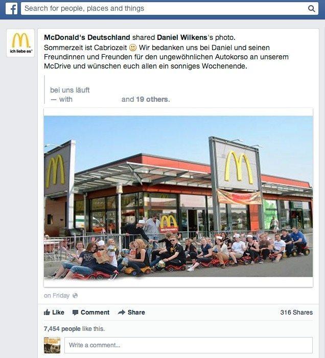 Community Management Case McDonald's Deutschland