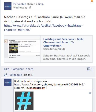 Facebook Fotokommentare für Seiten