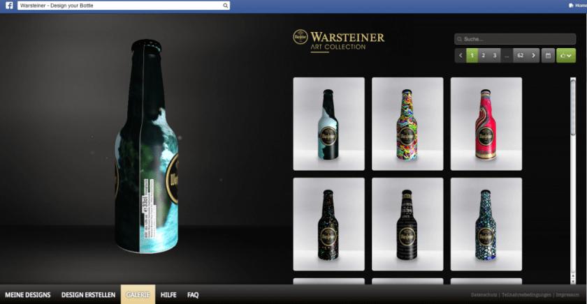 Facebook Kampagnen - Warsteiner Design your bottle