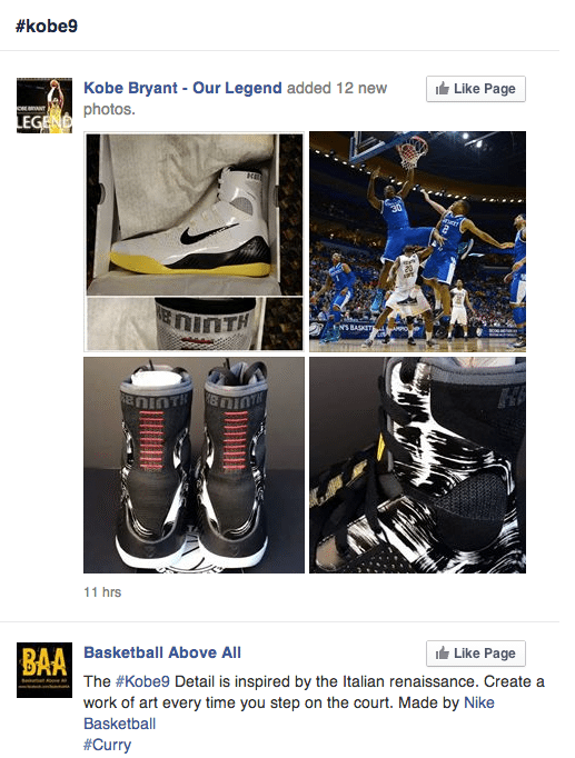 Facebook Hashtags - Produktlaunch