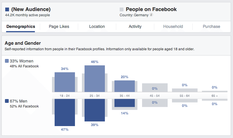 Facebook Audience Insights - So erstellt ihr einen Bericht: Nr. 1 Datenbasis