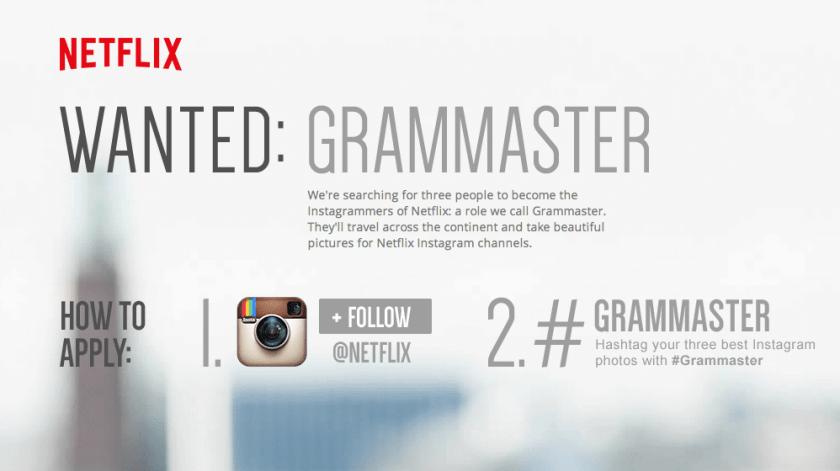 Instagram Kampagne von Netflix - Grammaster