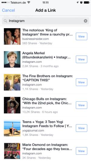 Facebook Add a Link - Vorbote für Facebook Suche?