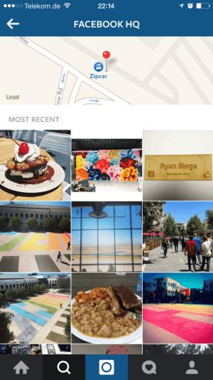 Instagram Suche -  Instagram Fotos und Videos zu Orten