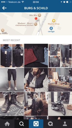 Instagram Suche - Suchergebnisse für lokale Unternehmen
