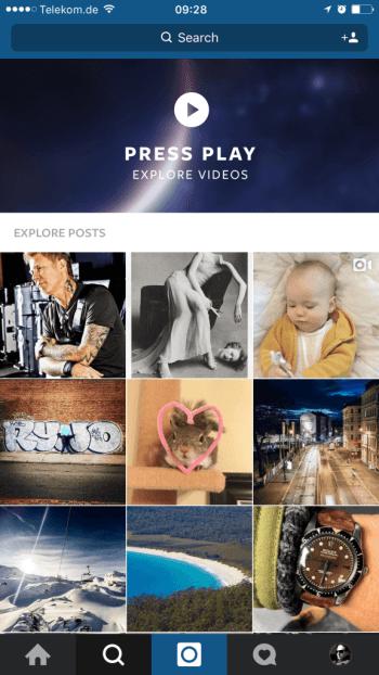 Instagram Explore Videos - Mehr Videoaufrufe durch Empfehlungen