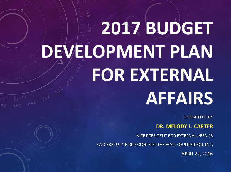 External Affairs Budget Reduction Proposal
