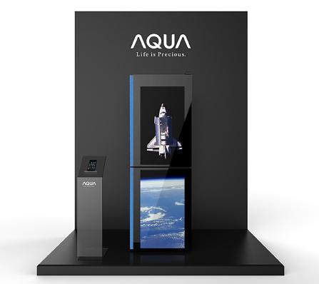 AQUA(ハイアール)の液晶ディスプレイ付冷蔵庫