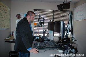 Dan in the studio