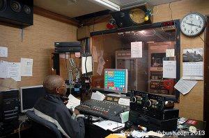 WUFO PD Lee Pettigrew in the old studio, Oct. 4, 2013