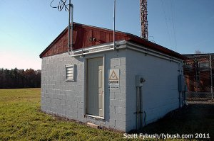 WHCU's night transmitter building
