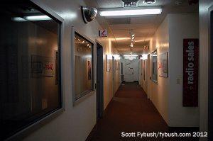 The KFMB radio hallway
