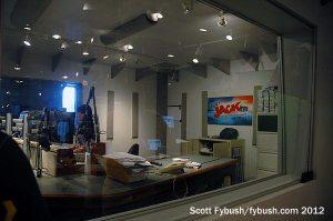 Looking into the KFMB-FM studio