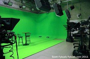 WIPB's green-screen studio