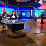 Rehearsing for the NH1 newscast (photo: Rick Zach/WBIN)