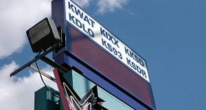 The sign outside the KWAT studios