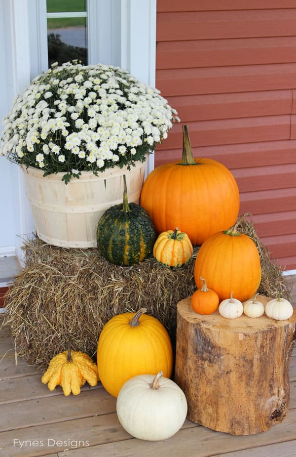 Fall pork decor from fynesdesigns.com