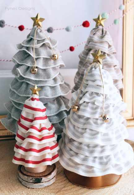 Can you believe these tree forms were only 99¢! You MUST see how they are made! #HolidayIdeaExchange