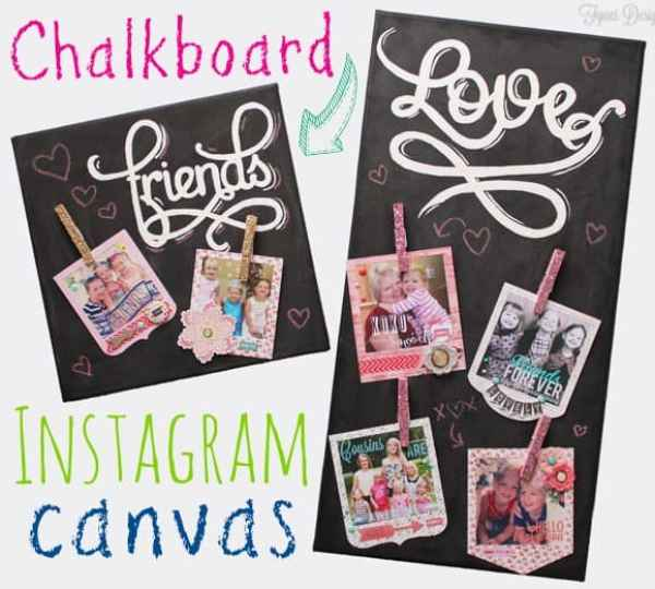 Easy photo pin-board from a canvas. Idea via fyesdesigns.com