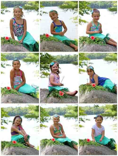 Mermaid Birthday party ideas- pose for a photo then put it in a craft frame