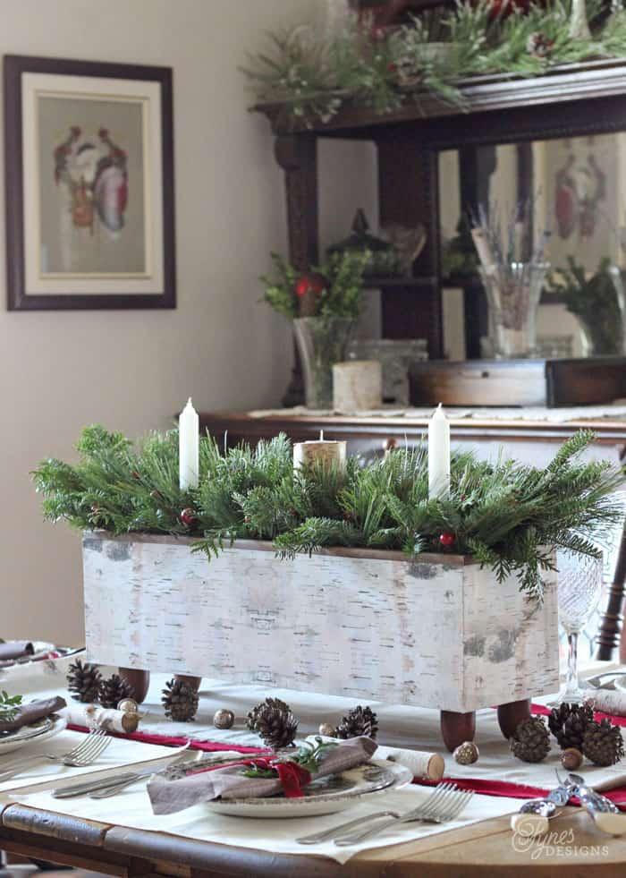 Birch inspired Holiday Centrepiece DIY