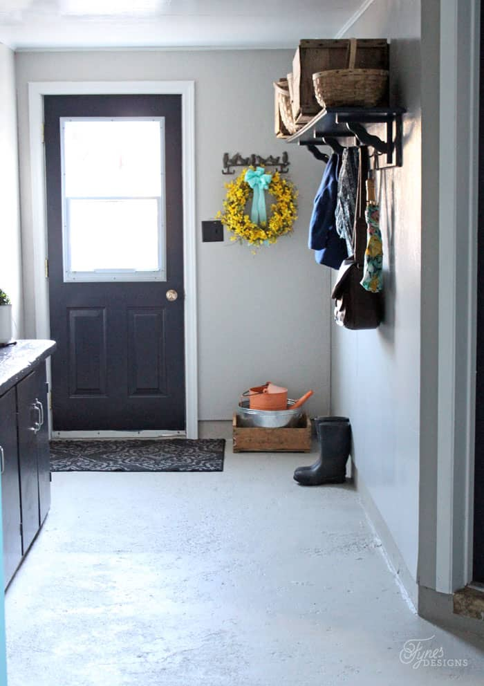 Beautiful Mud Room Makeover with Voice of Color paint