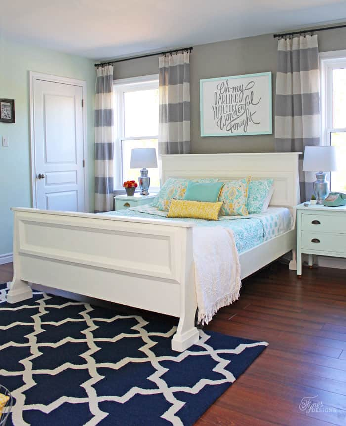 Master bedroom reveal with fresh farmhouse touches