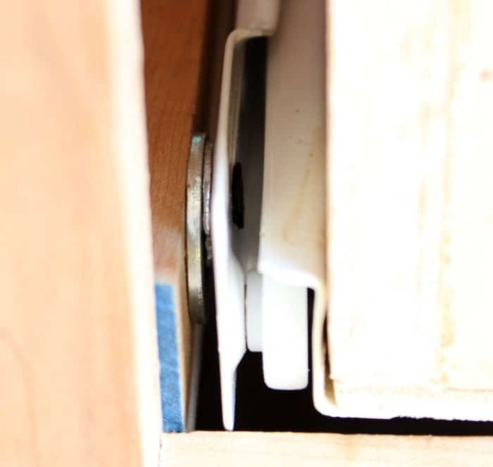 add washers to adjust drawer slides to work perfect