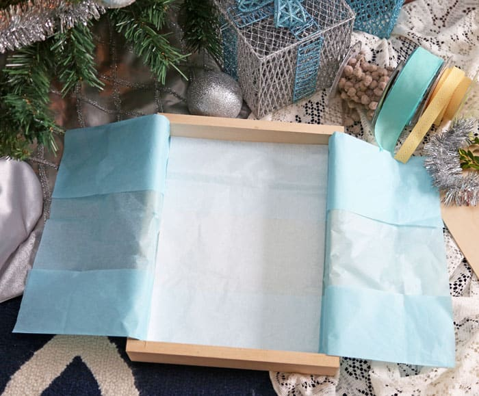 wooden crate for unique gift wrapping
