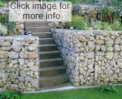 gabion basket and stairs