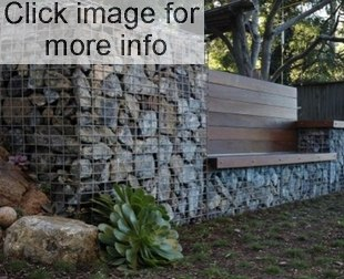 gabion retaining wall seat design