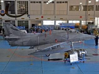 El A-4AR C-927 en la muestra interior (foto: Esteban Brea).