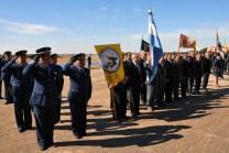 Una delegación de veteranos de guerra de la V Brigada Aérea de Villa Reynolds estuvo presente en la ceremonia (foto: Fuerza Aérea Argentina).