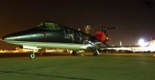 El Learjet LV-CZX de Baires Fly pernoctando en Arturo Merino Benítez por la final del 4 de julio (foto: William Olave).