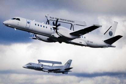 Íconos de la vigilancia aérea sueca