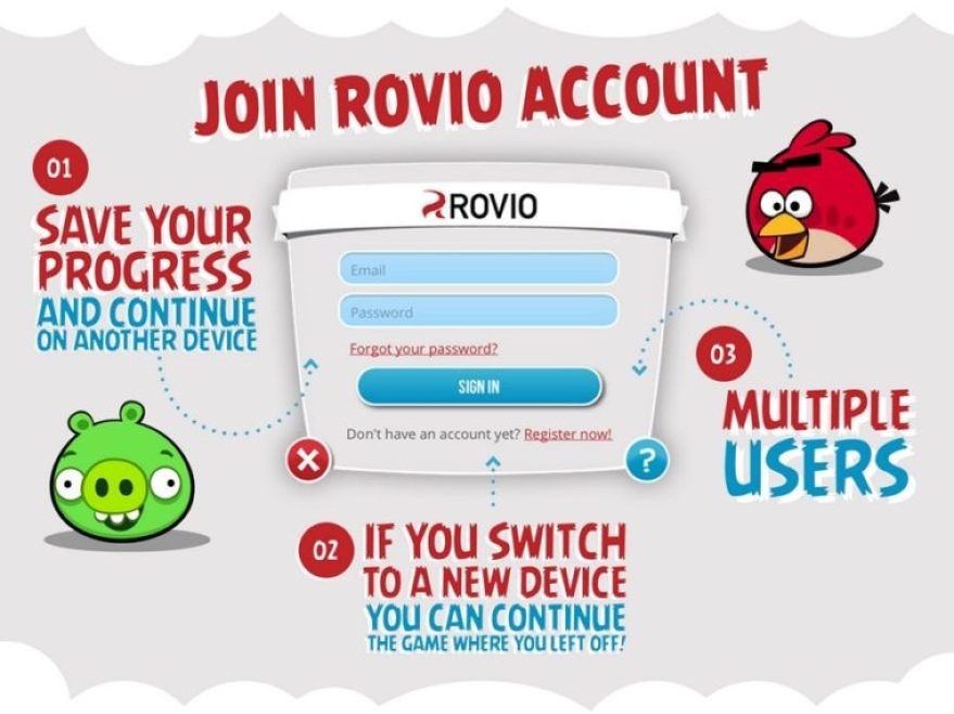Rovio Account on iOS and Android for Angry Birds Gamers