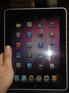 ipad front