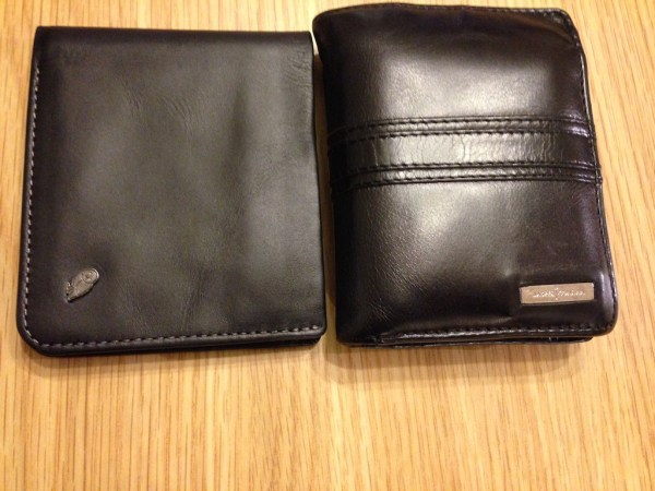 The wallet isn't that much smaller but it sure is thinner.