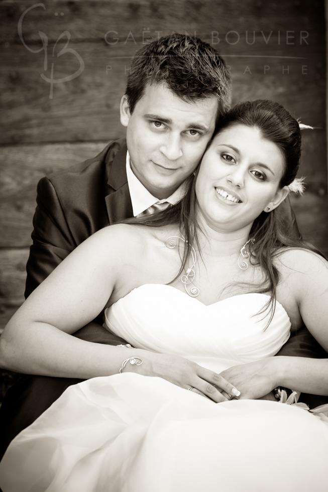 Photo de jeune mariés